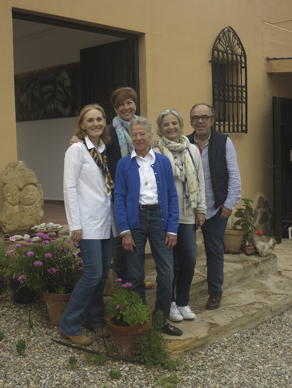 Visita de los amigos de la FV a nuestra residencia de artistas