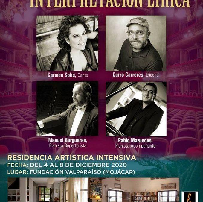 II  International Encounter for Opera, Zarzuela and Musical Theatre Interpreters