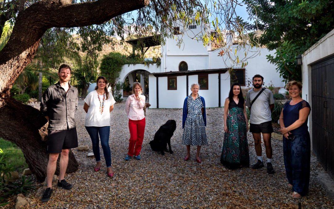 Artistas residentes en octubre de 2021 en nuestra Residencia de Mojácar